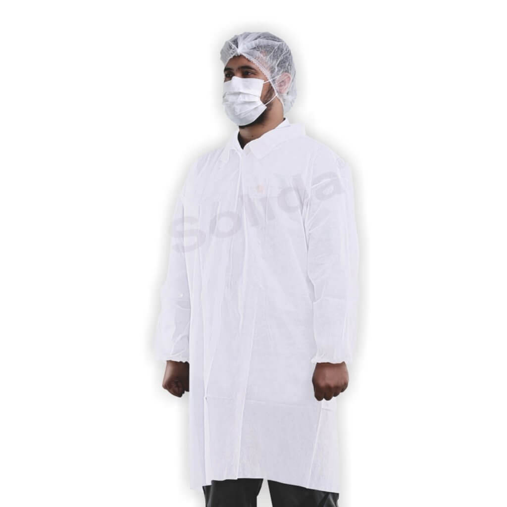 the material makes the Solida disposable lab coats
