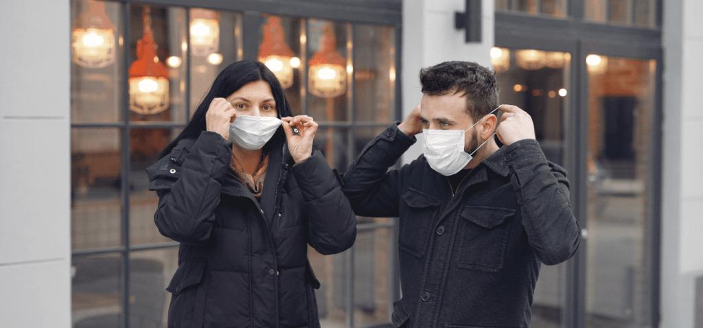 Adjusting to wearing a mask