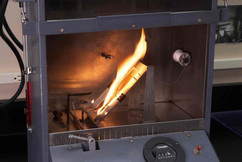 flammability mask test